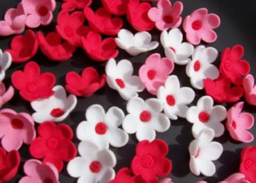 Sugar flower Cherry Blossoms cupcake toppers